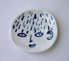 Porcelain Face Plate by EleonorBostrom