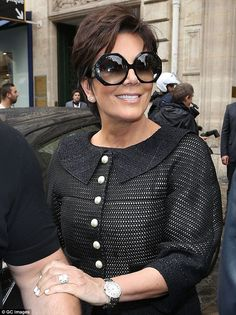 Kris Jenner and Tom Ford Eyewear Nico Plastic Sunglasses Kris