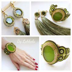 Soutache Bracelet, Soutache Jewelry, Beaded Bracelets, Hair Reference, Bead Crochet, Shibori, Beaded Embroidery, Jewerly, Beading