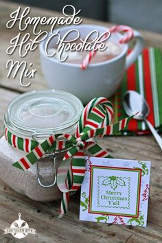 Homemade Hot chocolate Mix - Great inexpensive gift idea!