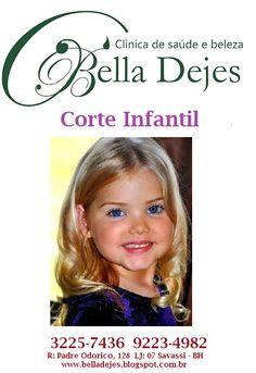 Bella Dejes: Cortes infantil, masculino e Feminino.