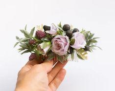 Wedding Flower Crowns and Bridal Headpieces от LisaUaShop на Etsy Lilac Flowers, Bridal Hair Flowers, Wedding Flowers, Flower Girl Crown, Flower Crowns, Bridal Headpieces, Bridal Comb, Floral Crown Wedding, Flower Headpiece