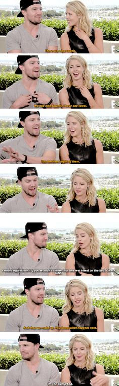 This started as a math problem and ended in smut. Only #Olicity. #Stemily #arrow #SDCC 2015 - acting out Olicity's 1st fight.