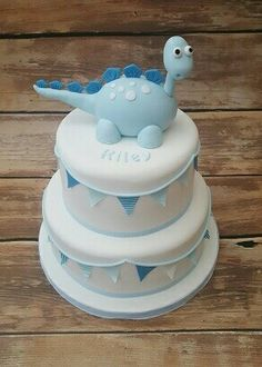 Dinosaur cake Christening cake www.cakesbykaren.co.uk