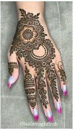 Latest Henna Designs, Henna Tattoo Designs Simple, Full Hand Mehndi Designs, Mehndi Designs 2018, Mehndi Designs For Beginners, Mehndi Design Photos, Wedding Mehndi Designs, Mehndi Designs For Fingers, Henna Designs Easy