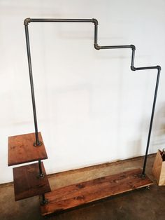 STAIRWAY RACK Industrial Garment Rack by pennylanewhitneyj