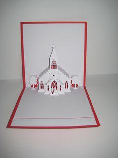 Pop-Up-Karten - Pop up Karte - Hochzeit - Kirche - ein Designerstück von Bastel-Preussin bei DaWanda