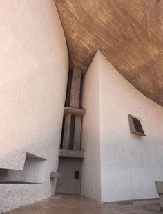Chapelle de Notre-Dame du Haut, Ronchamp by Le Corbusier Architecture Bauhaus, Le Corbusier Architecture, Architecture Design, Sacred Architecture, Amazing Architecture, Chinese Architecture, Architecture Office, Futuristic Architecture, Ronchamp Le Corbusier