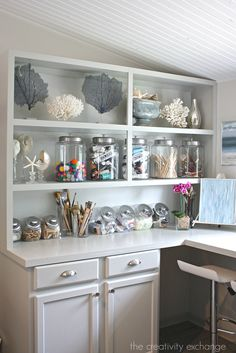 Cabinets painted with Mindful Gray from Benjamin Moore.