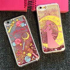 Cute cartoon Sailor moon Liquid Glitter hard Case cover for apple iphone 6 plus  #UnbrandedGeneric