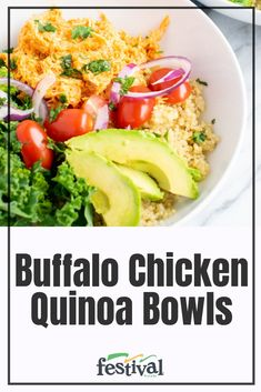 These Buffalo Chicken Quinoa Bowls Are Packed Full Of Flavor And Tons Protein Delicious