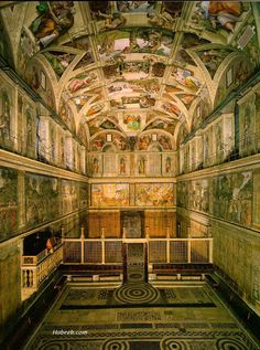 Sistine Chapel, The Vatican... but them pope people were a-holes and wouldn't let us take a photo.