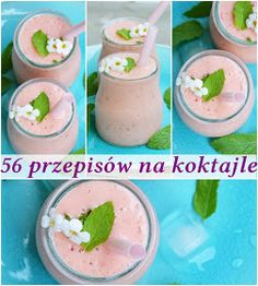 56 przepisów na koktajle Homemade Protein Shakes, Easy Protein Shakes, Protein Shake Recipes, Healthy Diet Recipes, Healthy Eating, Diet Drinks, Smoothie Drinks, Fruit Smoothies, Cocktail Recipes