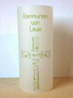 Dekoration - ♥ Lichthülle Kommunion  ♥ - ein Designerstück von marion-designisch bei DaWanda