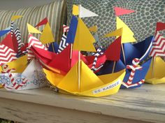 Paper boat craft nautical