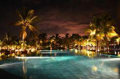 The pool at night (KimK21, Jan 2013)  Amazing resort, has it ALL!! - Trou aux Biches Resort & Spa - Mauritius