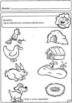 ESPAÇO EDUCAR: Atividades para a Educação Infantil: Os animais Farm Animals Preschool, Body Preschool, Preschool Lessons, Preschool Learning, Teaching Kids, Animal Worksheets, Printable Preschool Worksheets, Kindergarten Math Worksheets, Worksheets For Kids