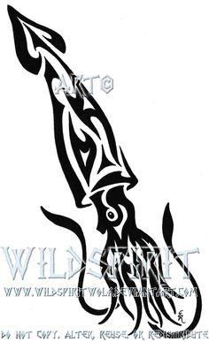 Tribal Squid Tattoo by *WildSpiritWolf on deviantART