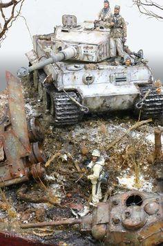 Tiger 1 dioramas bélicos