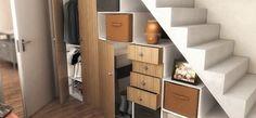 Amazing Under Stairs Closet Ideas That Inspire 06 Closet Under Stairs, Hall Closet, Armoire Dressing, Dormer Bungalow, Stair Decor, Wardrobe Storage, Shop Storage, Loft House, Stair Storage
