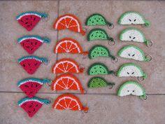 My world of crochet: Schlüsselanhänger: Fruchtsalat