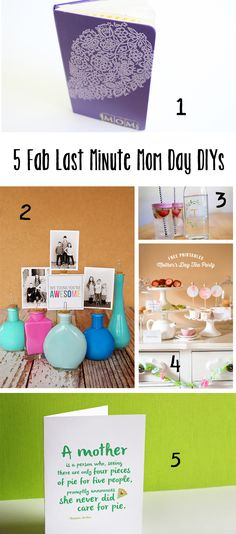 5 last minute Mothers Day ideas - love #2 & #5!