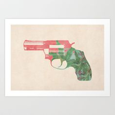 Miss scarlet, in the room, with a gun Art Print by Budi Satria Kwan - $19.97