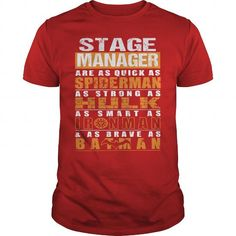 STAGE MANAGER T Shirts, Hoodies. Check Price ==► https://www.sunfrog.com/LifeStyle/STAGE-MANAGER-112251451-Red-Guys.html?41382