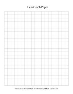 1 cm Metric Graph Paper (Black) Free Printable for Area activity
