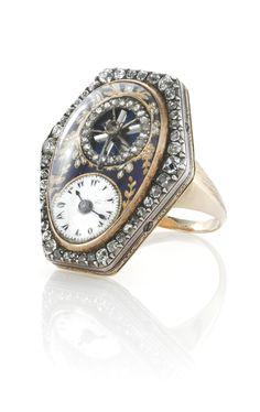 a fine and rare gold, ena Antique Watches, Antique Clocks, Vintage Watches, Victorian Jewelry, Antique Jewelry, Vintage Jewelry, Ring Watch, Bracelet Watch, Bijoux Art Nouveau