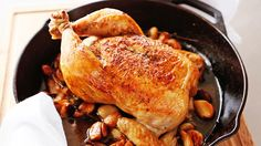 9 Fabulous French Recipes For Bastille Day // roast chicken with 40 cloves of garlic