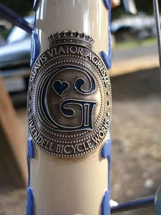 vintage head badge
