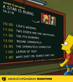 Keep on Simpsoning! Here's what's coming up from 10PM to 2AM. #EverySimpsonsEver pic.twitter.com/EvYgM1nldK
