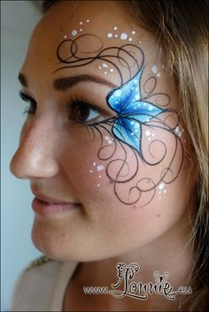 Lonnies Ansigtsmaling Pretty teen design Face paint