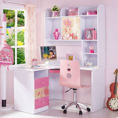 Kinderecke Schreibtisch - Kinderecke Schreibtisch La mejor imagen sobre healthy eating para tu gusto Estás buscando algo y n - Kids Corner Desk, White Corner Desk, Corner Workstation, Kid Desk, Desk For Kids, Bedroom Corner, Girls Bedroom, Bedroom Decor, My Room