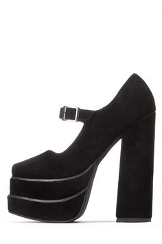 Jeffrey Campbell Shoes EMPOWER Platforms in Black Suede