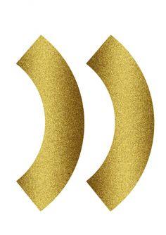 free Gold Glitter cupcake wrapper