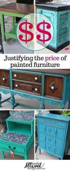 How to set the price of painted furniture and feel justified in its pricing. It takes hard work to paint and resell used furniture; your effort is worth it.