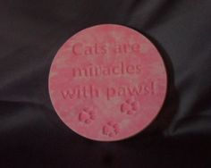 Cat Lovers Plaque. Hand Poured and Finished by PourBoyCeramics, $24.00
