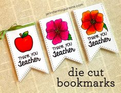 School Time Teacher Die Cut Bookmarks Video by Jennifer McGuire Ink
