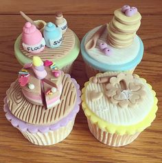 Farm Birthday Cakes, Candy Birthday Cakes, Birthday Cake For Mom, Cupcake Cake Designs, Fondant Cupcake Toppers, Cupcake Cakes, Fashionista Cake, Chef Cake, Cake Pops