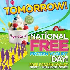 "@yogurtlandau's photo: "":-) Only one sleep to go!!! :-) #Free self-serve #froyo and toppings #tomorrow from 4-7pm at every Yogurtland Australia Store. Don't miss out!"""