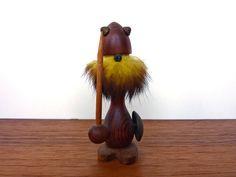 Yellow Bearded Teak Viking. $25.00, via Etsy.