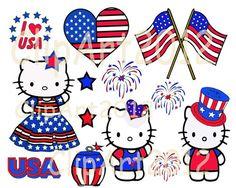 Hello Kitty Border Clip Art | Hello kitty , USA, Clip Art , Digital clipart ,PNG, KITTY 0012 ...