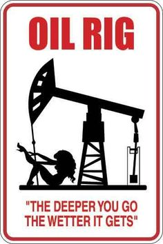 Oil Rig Parking Only Sign Decal