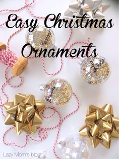 Easy Christmas ornaments ready in 5 minutes