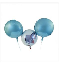 BALLOON BOUQUET SORRY - DONKEY EEYORE LIGHT BLUE This reconciliation also really succeed, we have specifically designed this balloon bouquet for you. The focus is on the donkey Eeyore, who seems to ask his warm glance pardon. This gift is rounded off by two light blue round balloons.