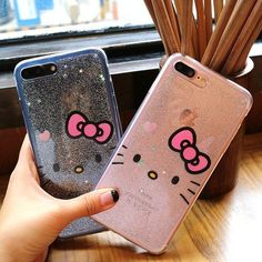 Cute Hello Kitty Glitter Bling Transparent Soft Case For iPhone 7 7Plus 6s Plus  | eBay