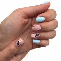 170 hottest matte short nail art designs ideas page 20 Minimalist Nails, Nail Swag, Stylish Nails, Trendy Nails, Pink Nails, Gel Nails, Manicure And Pedicure, Short Nails Art, Best Acrylic Nails