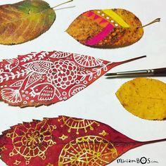Miriam's painted autumn leaves. @miriambos_